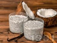 Рецепта Кокосов чия пудинг с мед и ванилия